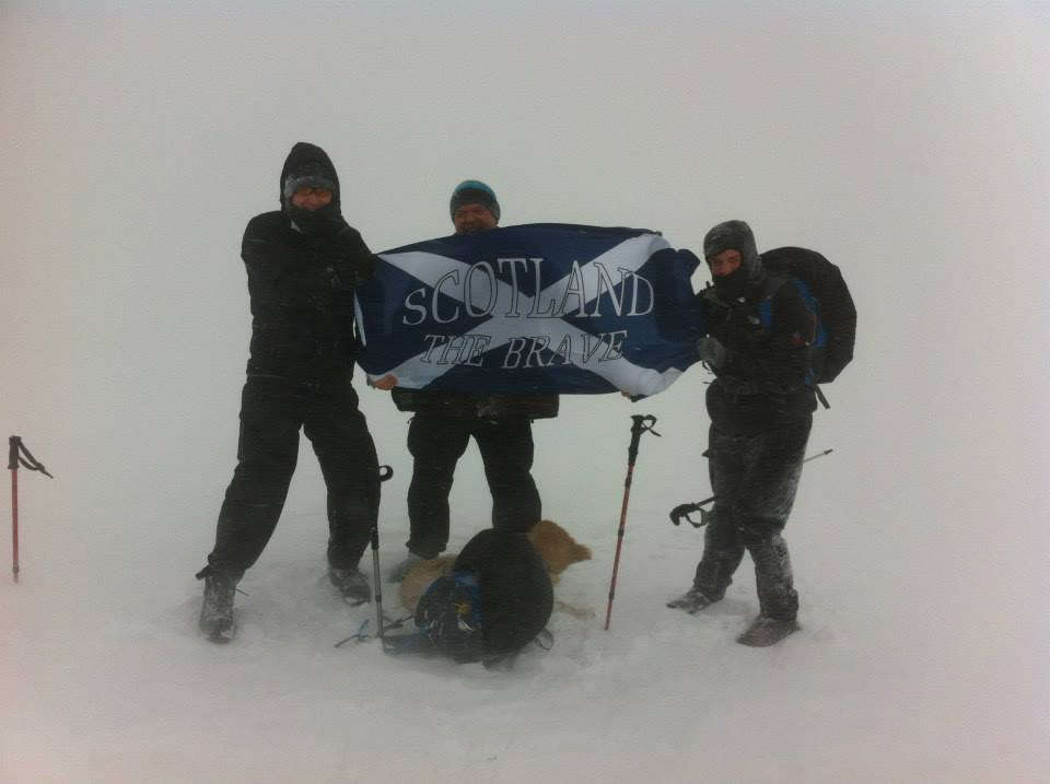 Flag at the top