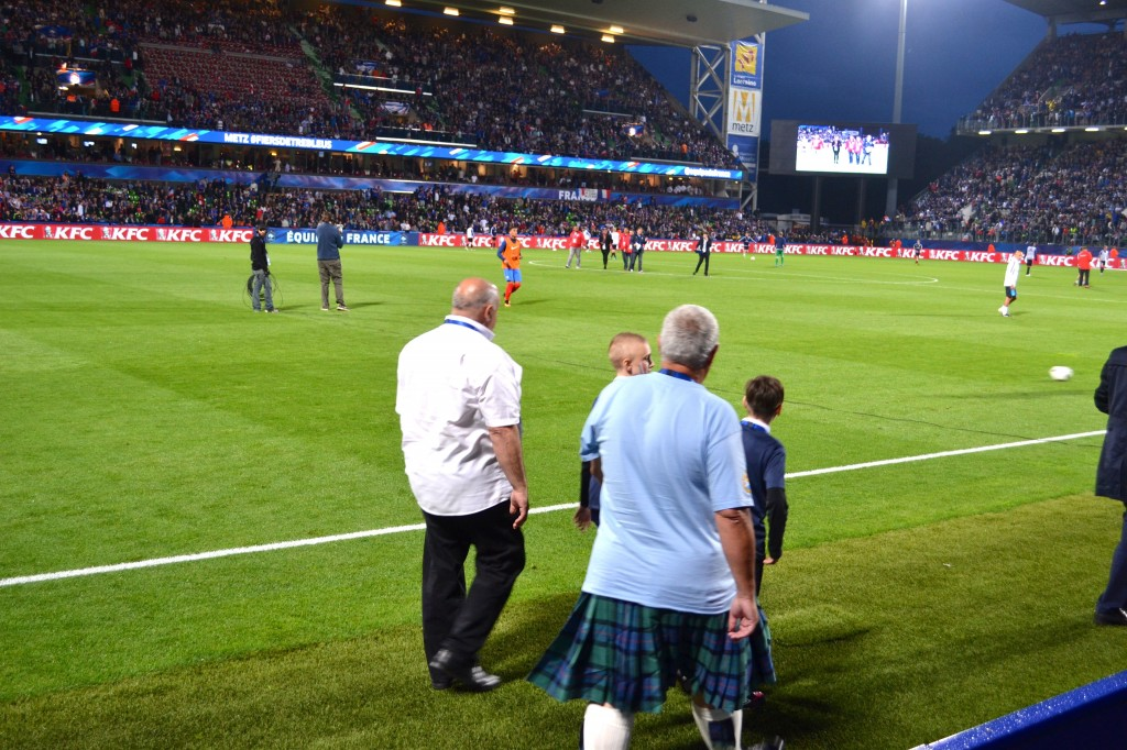 Going pitchside