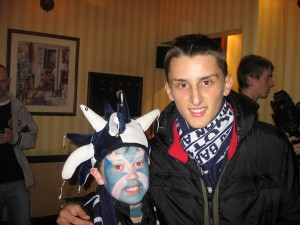 Kemal Karic (aged 15 in 2007) with my nephew, Ross prior to the Italy match.